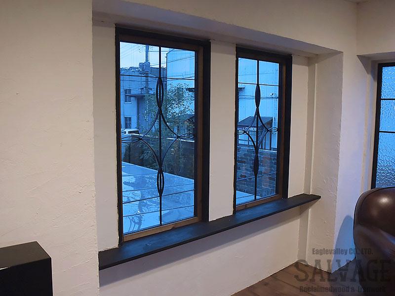 スタジオ施工例 5-09 アイアン面格子 オーダー窓