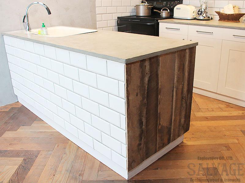 スタジオ施工例 6-40 古材使用 アイランドキッチン