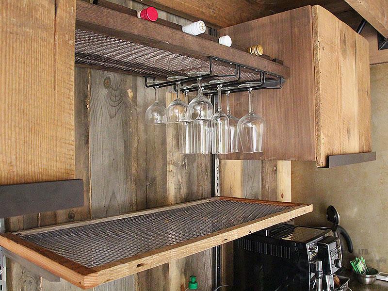 スタジオ施工例 5-26 インダストリアル キッチン吊り戸