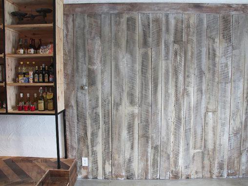 スタジオ施工例 6-45 内装施工 古材 薄板
