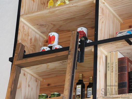 スタジオ施工例 6-44 アイアンワーク スライド式はしご