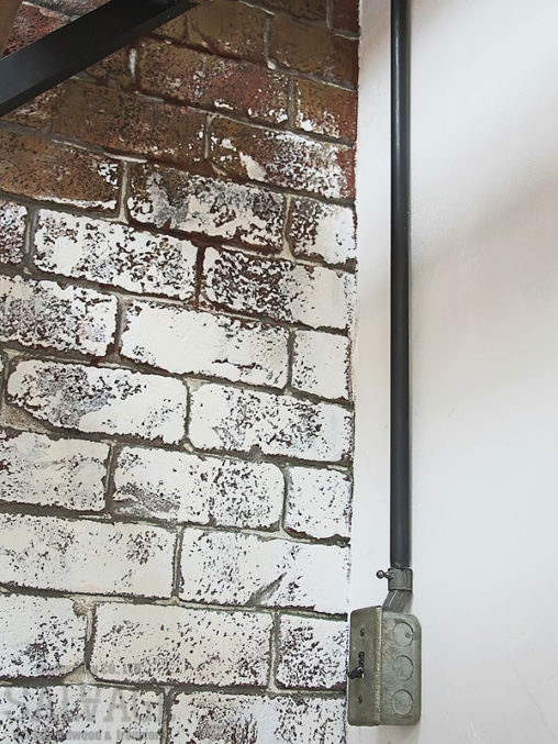 スタジオ施工例 5-36 露出配線 モルタル造形