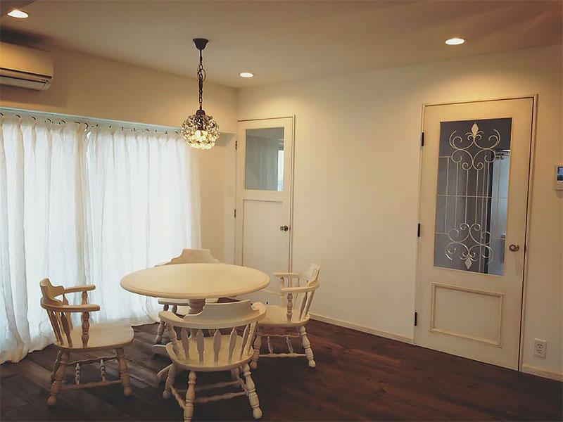住宅施工例 5-02 マンションリフォーム リビング オーダードア