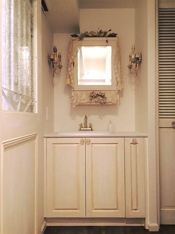 住宅施工例 5-03 オーダー洗面台